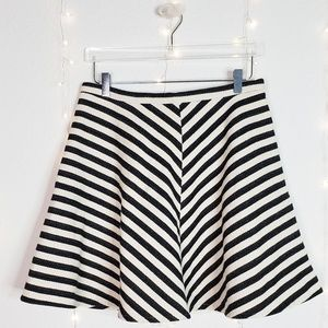 Anthropologie Greylin Striped Skater Skirt Sz 12